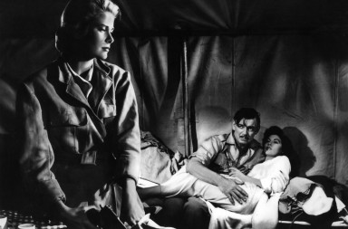 BB67WR movie, Mogambo, USA 1953, director: John Ford, scene with: Ava Gardner, Clark Gable, Grace Kelly, drama, romance, in tent, lyi